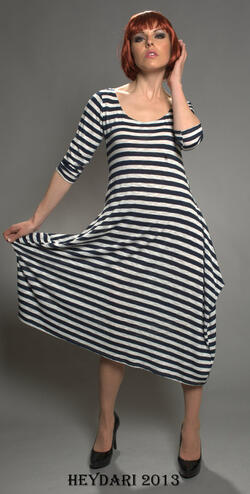 Striped slinky dress part of our upcoming Spring collection.